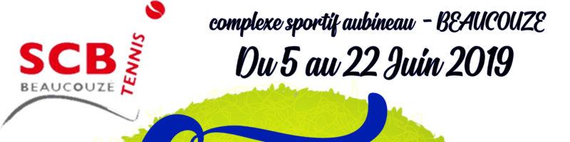 Tournoi Couzé Open du 5 au 22 juin 2019